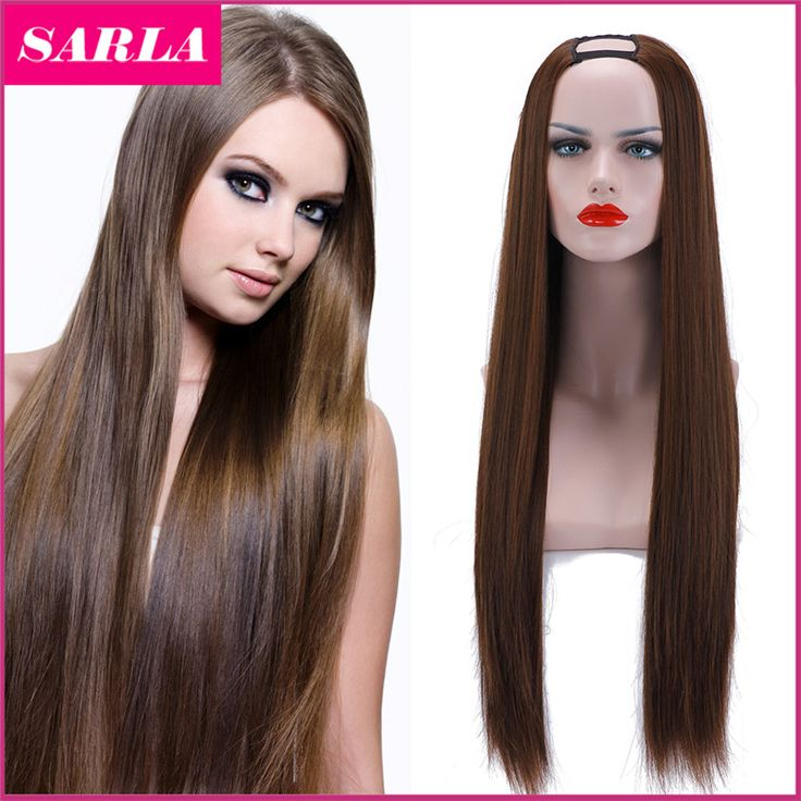 New HOT!!! Xmas U Part Wig Synthetic Hair Wigs Cosplay Wig Natural Long Straight Wig High Temperature Silk  Lace Wigs for  Women