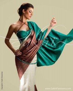 Tussar with Cut-Work Silk #Saree by @Sakhi Fashions