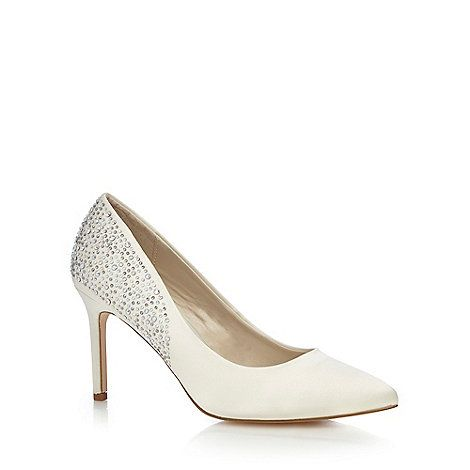 Debut Ivory studded high court shoes- | Debenhams