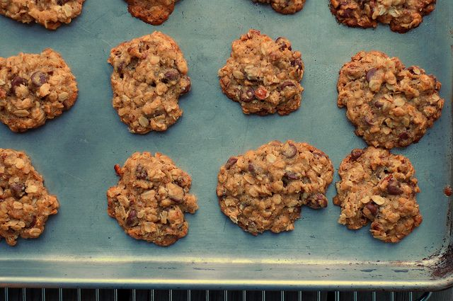 Oatmeal chocolate chip pecan cookies to make winter more bearable.