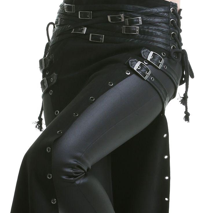 Jupe Gothique Longue avec Ouvertures | Crazyinlove France