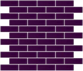 purple glass subway tile - sorry I'm a little obsessed with subway tile please don't let me cover my whole house in it friends