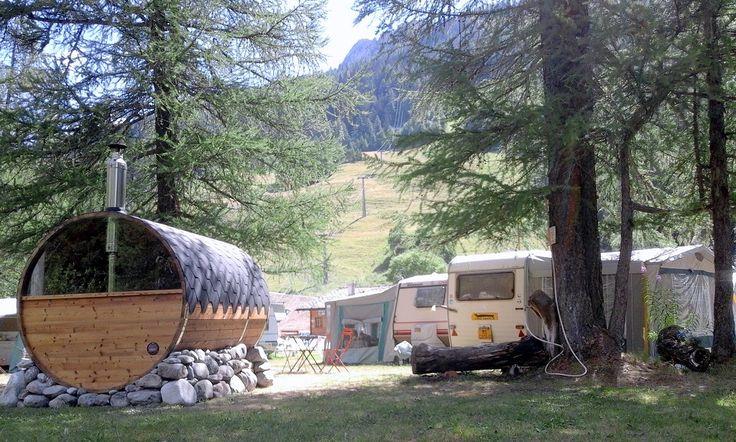 Sauna botte con vetro panoramico