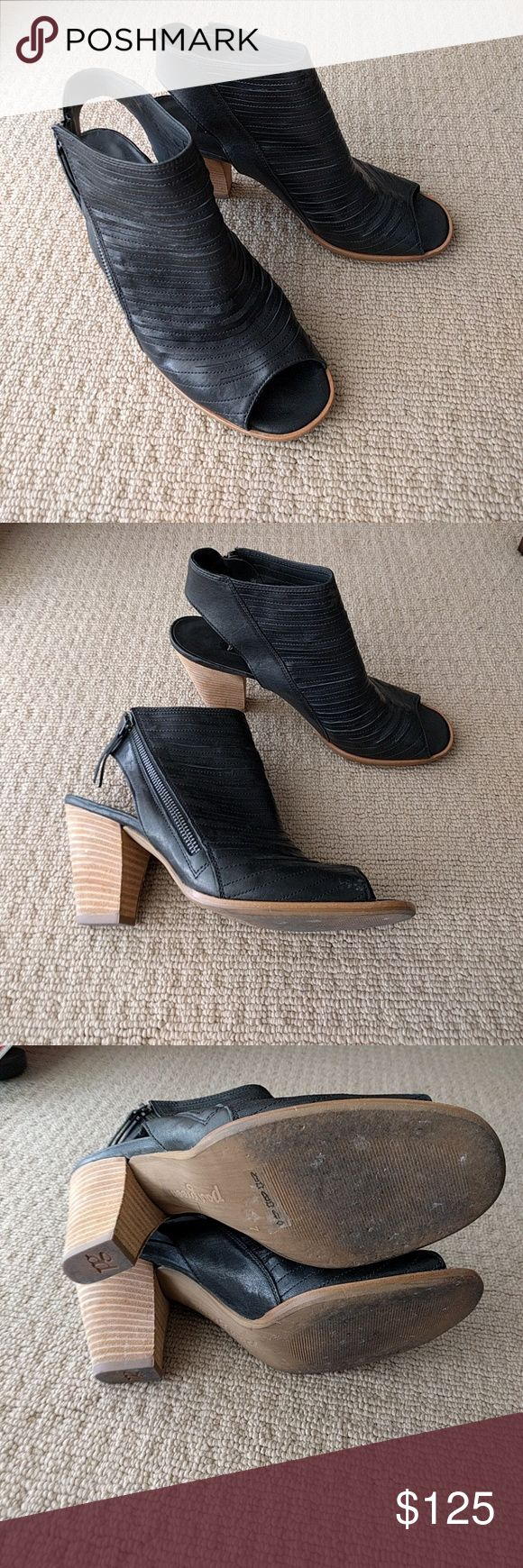 Paul Green Cayanne Black sandals sz 9.5 Worn but in great condition Paul Green Shoes Ankle Boots & Booties