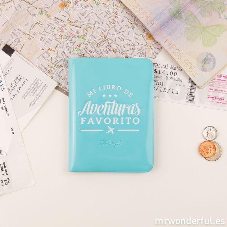Funda para pasaporte - Mi libro de aventuras favorito - Mr. Wonderful