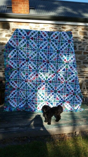 Alice and Heath's wedding quilt for 8.1.16