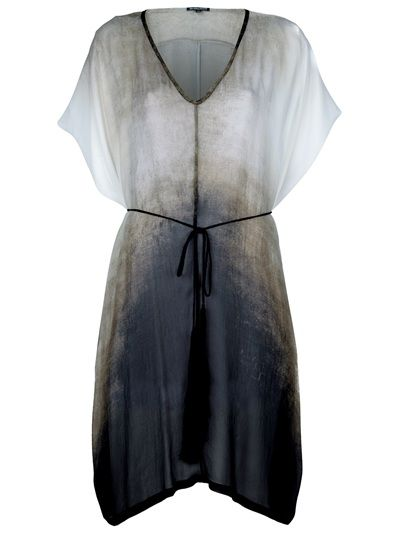 Ann Demeulemeester Dégradé Hooded Dress