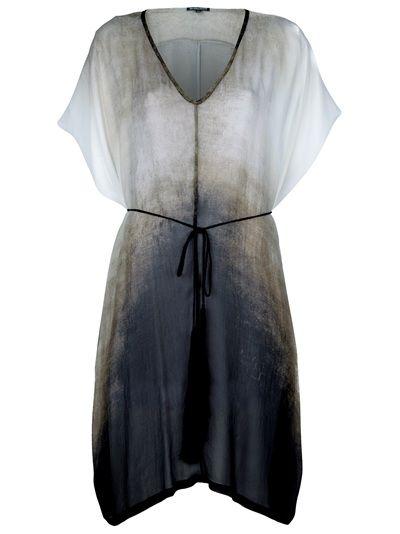 Ann Demeulemeester Dégradé Hooded Dress