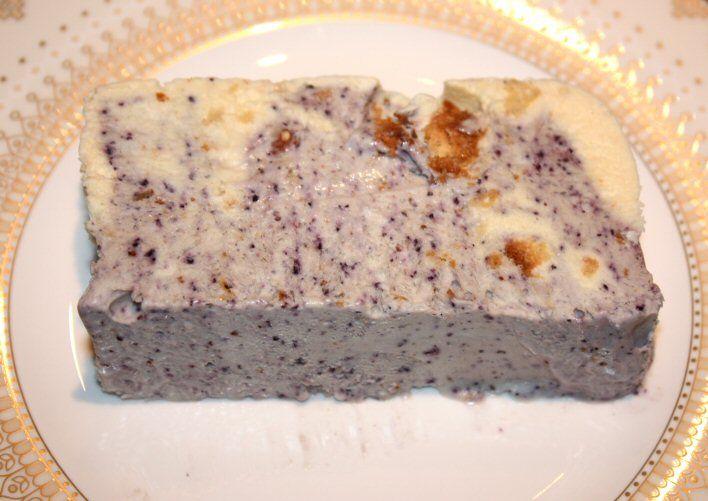 Vanille-bosbessenparfait