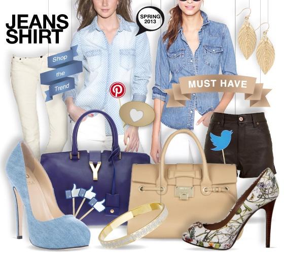 Denim shirt - shopthemagazine.com #denimshirt #jeans #musthave