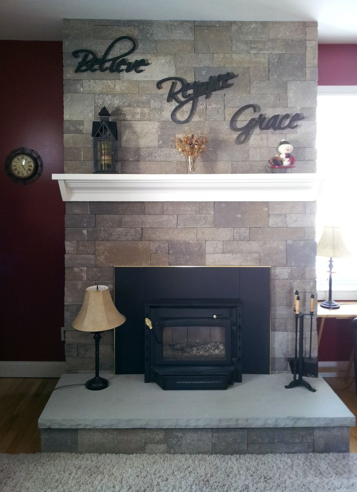 Fusion Dry Stack Fireplace In Charcoal Stone Fireplaces Pinterest Charcoal Fireplace