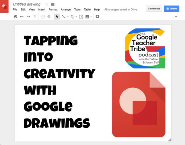 Google Drawings is like a blank slate. It's a simple digital sheet of paper just waiting for your images and text. In this episode of the Google Teacher Tribe podcast, Wanda Terral talks about lots of cool ideas to let students work visually with Google Drawings. Some ideas we talk about include: Meme yourself Timeline […]