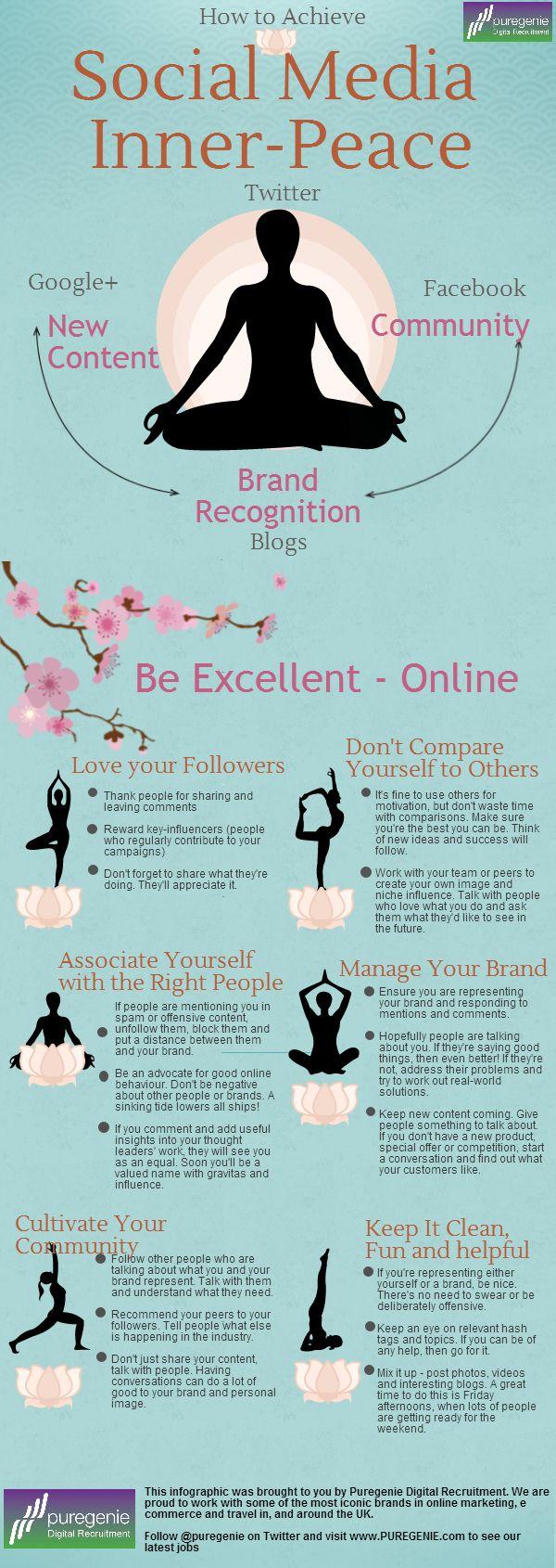 Social Media Inner Peace #infografia #infographic #socialmedia