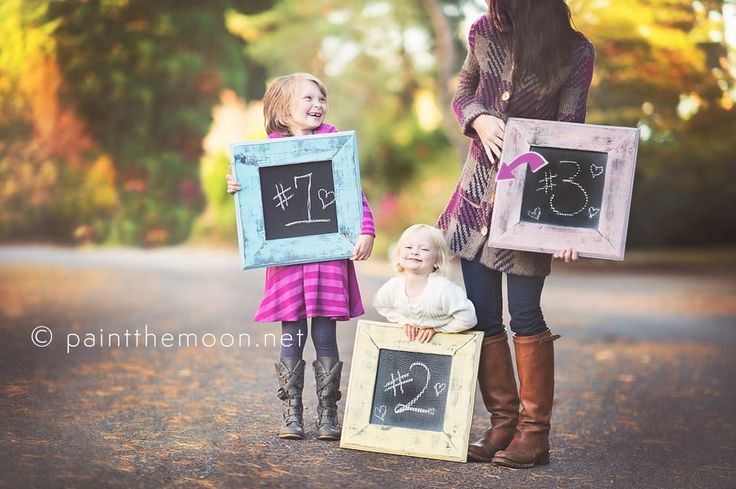 A growing #Family gets creative with their  #BabyAnnouncement