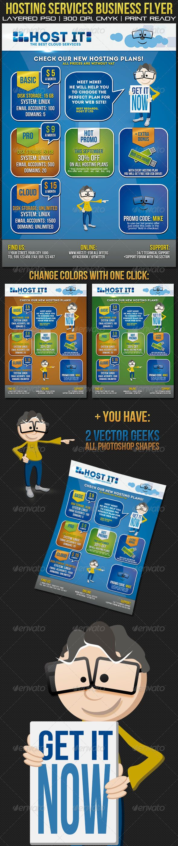 Hosting Services Business Flyer/ Poster - GraphicRiver Item for Sale