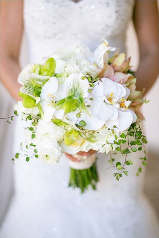 white orchid wedding bouquet by NLC Productions