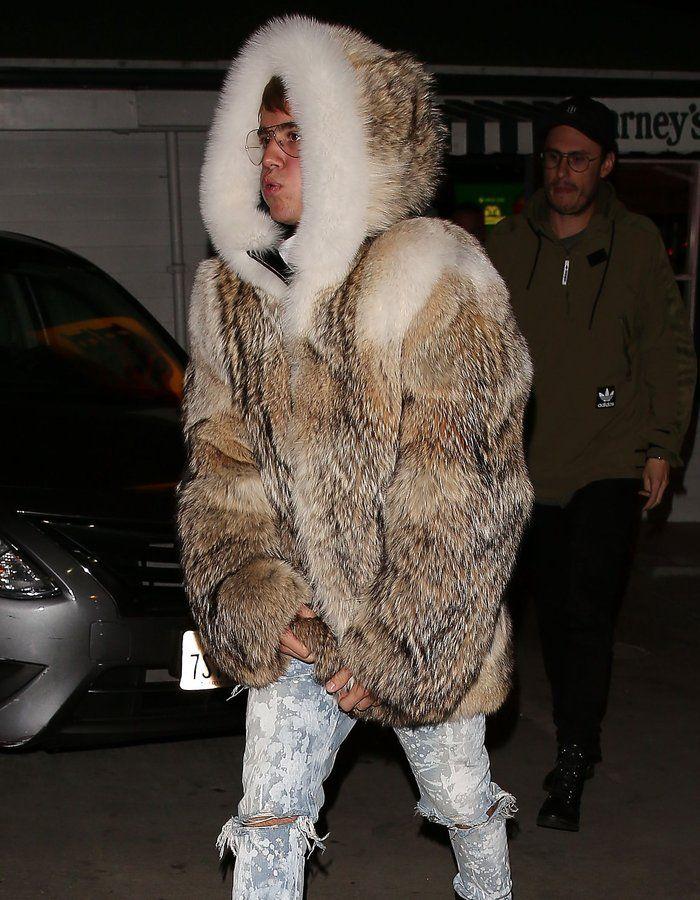 Image result for justin bieber fur coat