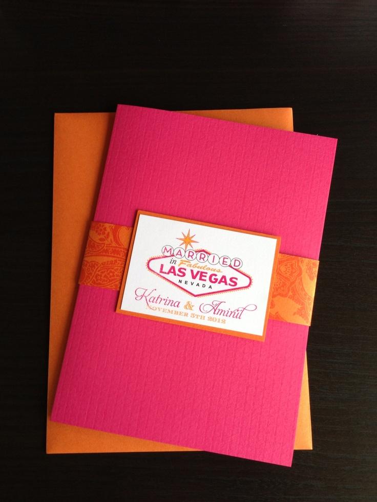 Pink & Orange Vegas Destination Invitation Suite http://www.facebook.com/BelleImpressions