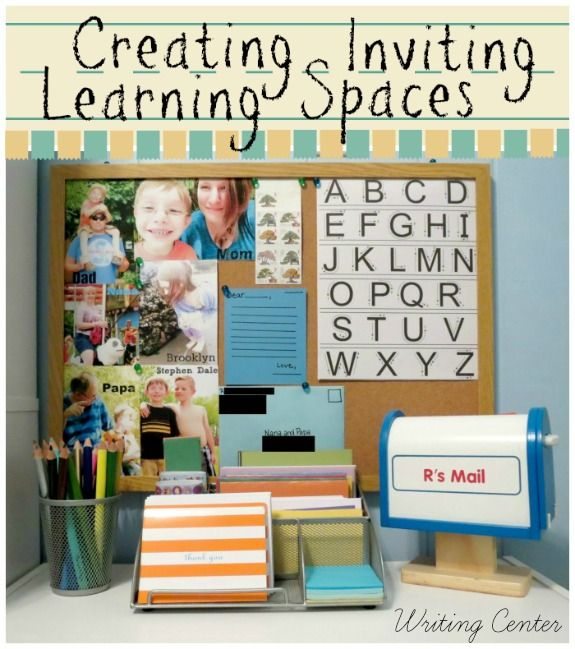 Creating Inviting Learning SpacesInvitations Learning, Learning Spaces, Education Preschool, Create Invitations, Writing Spaces, Writing Centers, Art Center, Letters Writing, Child Learning
