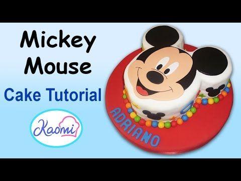 How to make Mickey Mouse Cake / Cómo hacer una torta de Mickey - YouTube