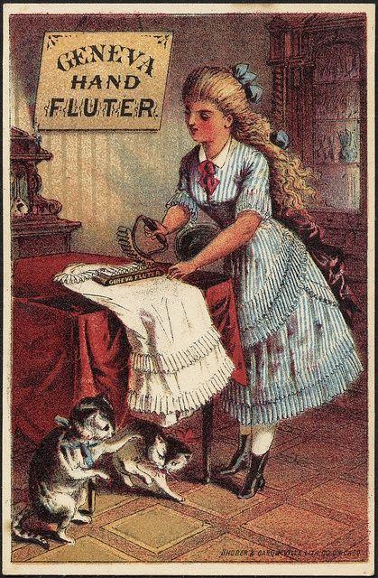 Antique Trade Card - Geneva Hand Fluter
