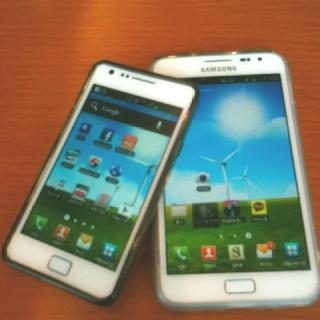 Samsung Galaxy brothers Galaxy note & Galaxy S2