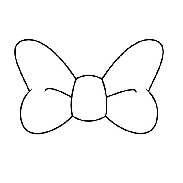 Dibujo De Un Lazo Para Pintar01 Lazos De Minnie Mono De Minnie Dibujos De Lazos