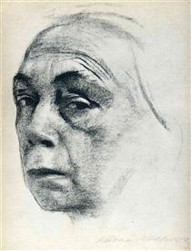 Self-Portrait - Kathe Kollwitz
