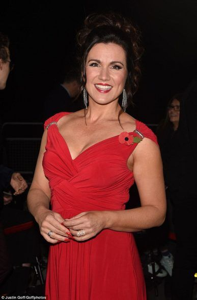 Susanna Reid stole the show at the Pride of Britain Awards 2016 with her fitted red bespoke Ariella dress, which featured a daring low-cut neckline.