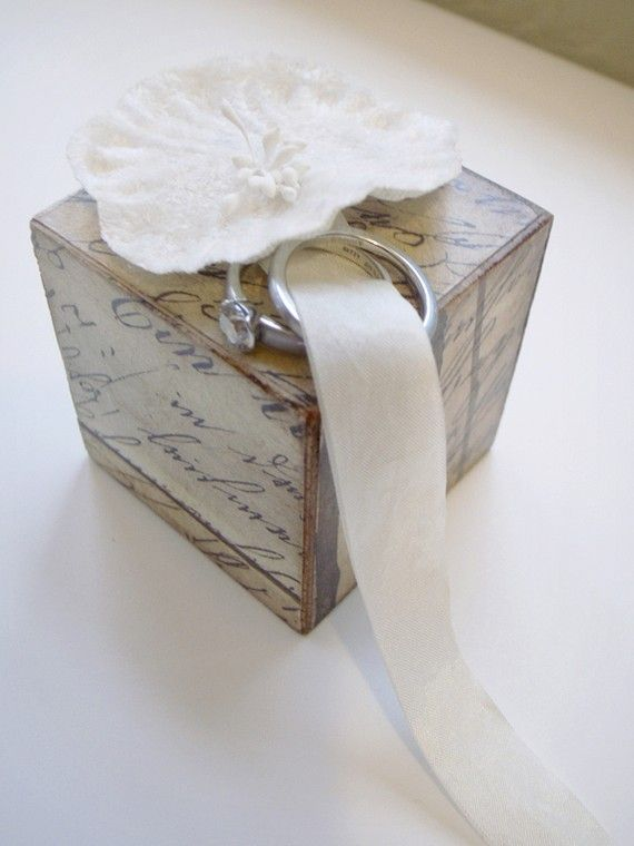 ring bearer pillow alternatives ideas | Chic Alternatives to the Traditional Ring Pillow - Bridal Musings ...
