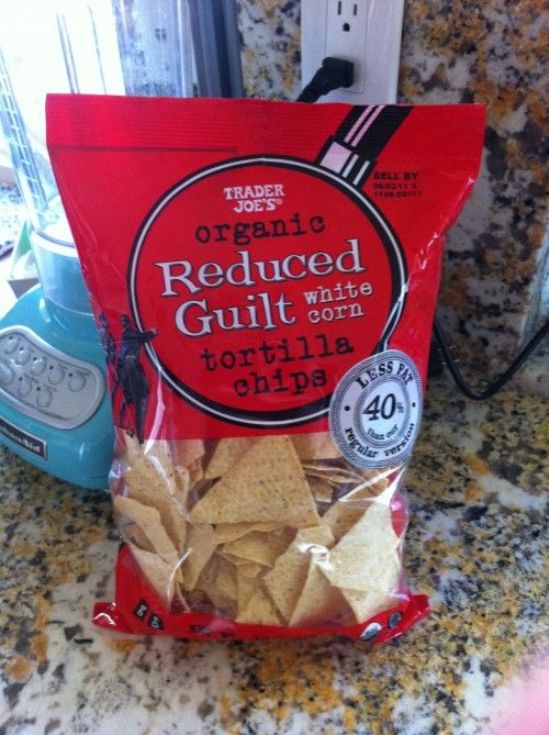 Trader Joe's Organic Reduced Guilt Tortilla Chips WWPoints+= 3 for 14 chips (want to try someday)