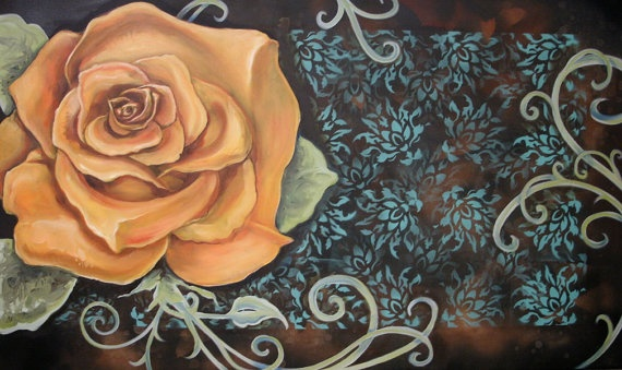 Orange Rose by JoleneMackieArt on Etsy, $950.00