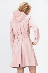 Curve Jacket is a practical and classic women's rain-garment inspired by the classic Trench Coat. The tie belt at the waist emphasizes the feminine silh...