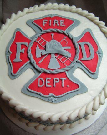 Graduation cake for two aspiring firemen.