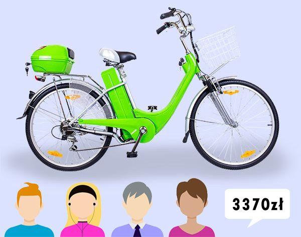 Rower Elektryczny 26 250w 36v 2018 Zielony 7700810312 Oficjalne Archiwum Allegro New Electric Bike Electric Bicycle Bike Led