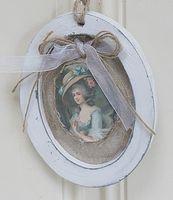 Brocant ovale hanger Marie Antoinette.