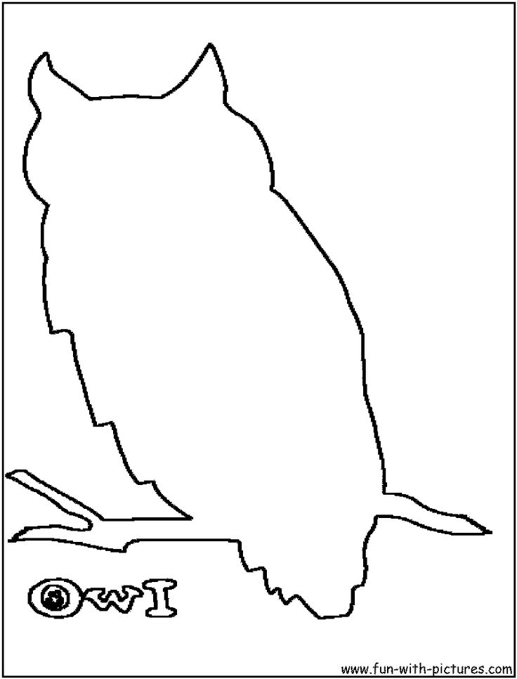 owl outline   Tattoo ideas   Pinterest   Owl patterns, Owl ...