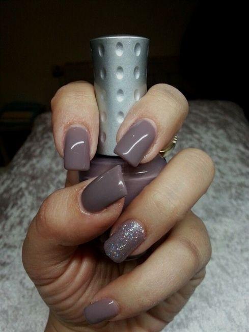 Nice Taupe Nails Gel Polish Glitter Koula S Nail Beauty Studio Gelnailpolish