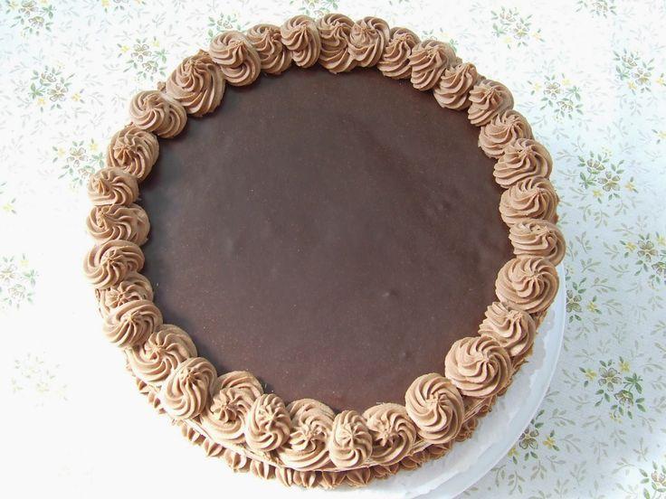 Nagymamám konyhájából,...: Csokoládé torta, egy jó kis hatvanasnak