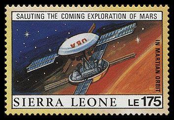 Исследования Марса (марка Сьерра-Леоне, 1990 г.)