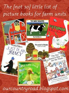 Our Country Road Picture books for farm units.