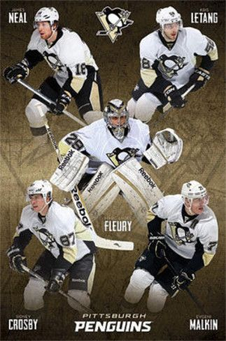 Pittsburgh Penguins Group Hockey Poster Poster at AllPosters.com