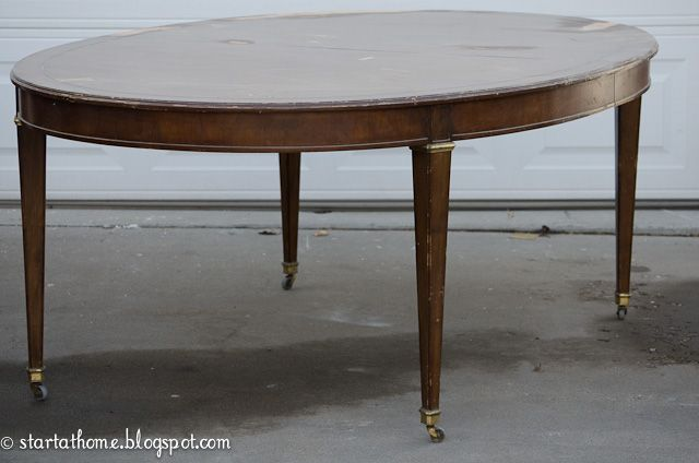 My Tables Debut - I am so excited to show off this table.  After all it has been 2 years in the making.  Once I got this table home and assessed it I realized i…