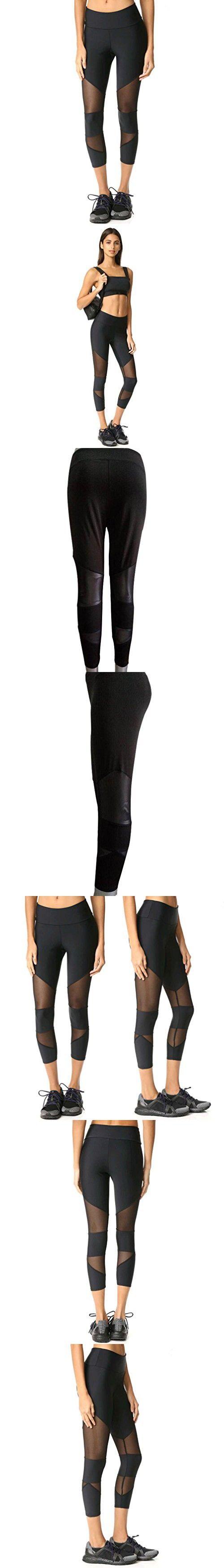 Women Skinny Leggings, Keepfit Patchwork Mesh Yoga Pants Fitness Sports Tights (M)