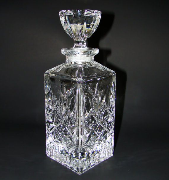 Vintage Jihlava Bohemia Czech Crystal Whiskey Decanter