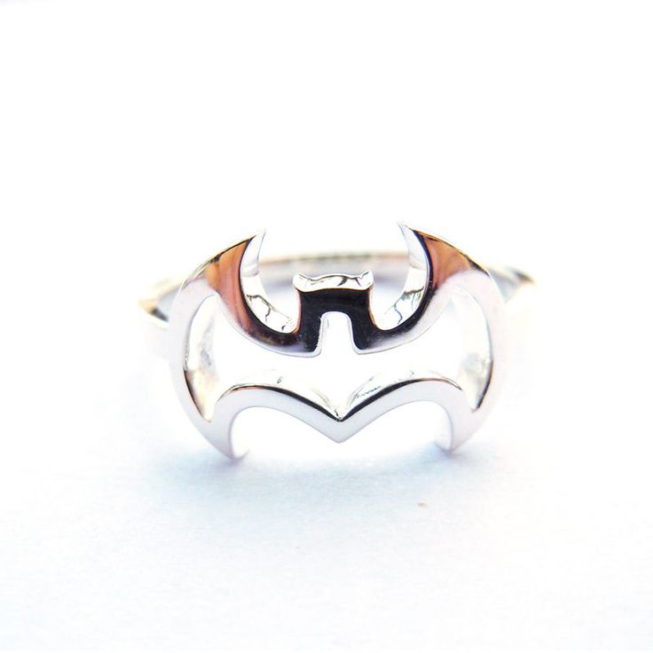 Us Size 4-16 Tailor Made Shiny Finish .925 Sterling Silver Batman Ring
