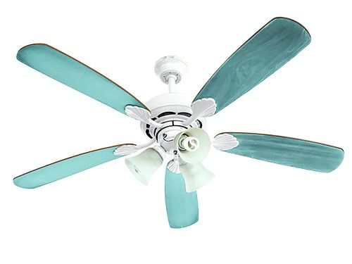 Transform a ceiling fan Oh, what a can of spray paint can do! To hide dated features, pick a favorite paint hue, remove fan from the ceiling and paint it in a ventilated area. Let dry before rehanging.