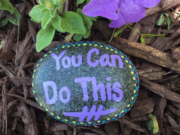 You can do this. Hand painted rock by Caroline. The Kindness Rocks Project
