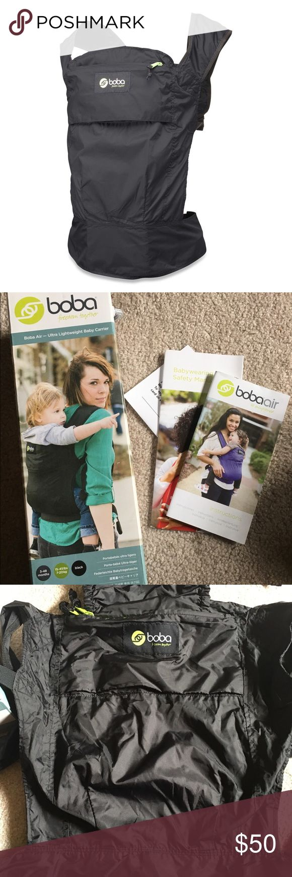 Boba Air - Ultra Lightweight Baby Carrier NWOT     I bought & never used this carrier.   You can use from 3-48 months and 15-45 pounds. Perfect for Summer!! Boba Other