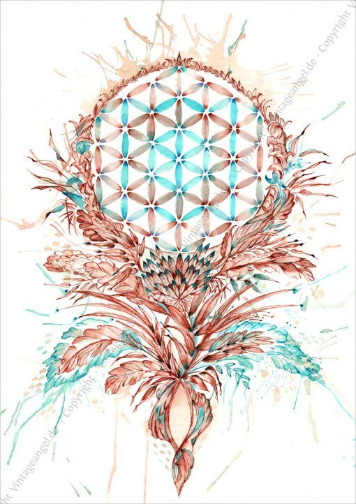 Blume des Lebens, Flower of Life, Symbol,  Spirtituelles Bild